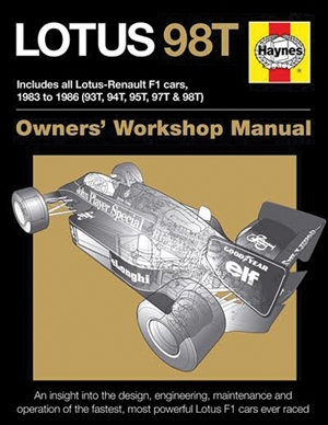 Lotus 98T Includes all Lotus-Renault F1 cars, 1983 to 1986 (93T, 94T, 95T, 97T & 98T)
