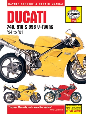 Ducati 748, 916 & 996 V-Twins '94 to '01