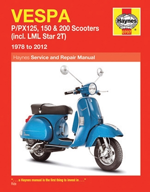 Vespa P/PX125, 150 & 200 Scooters (incl. LML Star 2T) 1978 to 2014