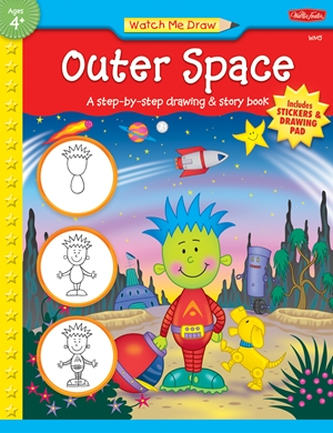 Outer Space A step-by-step drawing & story book