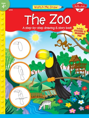 The Zoo A step-by-step drawing & story book