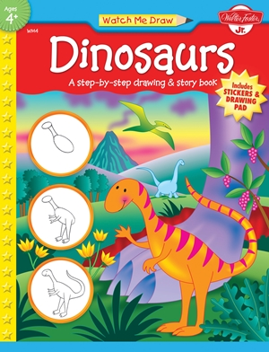 Dinosaurs A step-by-step drawing and story book