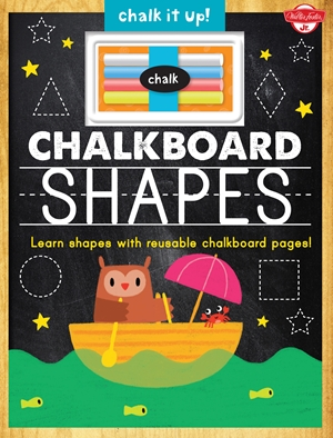 Chalkboard Shapes Learn your shapes with reusable chalkboard pages!