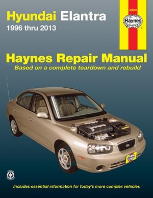 Hyundai Elantra 1996 thru 2013