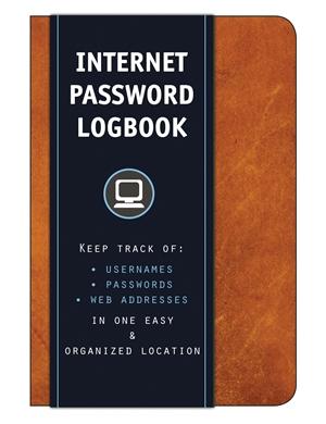 Internet Password Logbook (Cognac Leatherette)