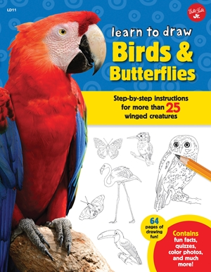 Learn to Draw Birds & Butterflies