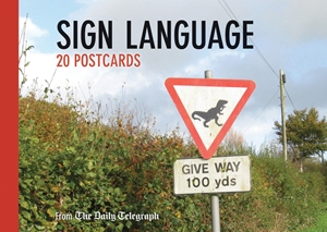 Daily Telegraph Sign Language Postcard Book