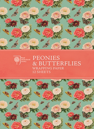 RHS Peonies and Butterflies Wrapping Paper
