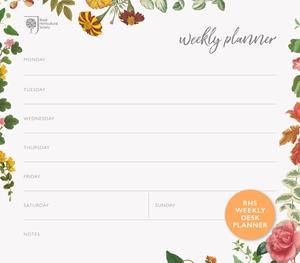 RHS Weekly Desk Planner