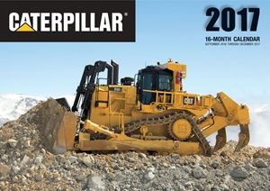 Caterpillar 2017 16-Month Calendar September 2016 through December 2017