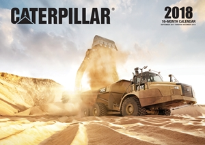 Caterpillar 2018 16 Month Calendar Includes September 2017 Through December 2018