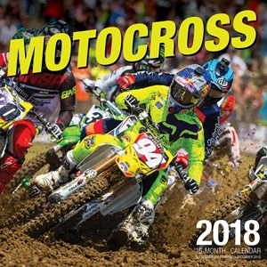 Motocross 2018 16 Month Calendar Includes September 2017 Through December 2018