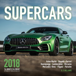 Supercars 2018 16 Month Calendar Includes September 2017 Through December 2018