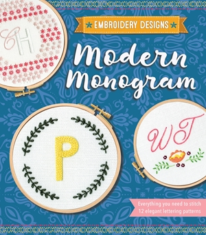 Embroidery Designs Modern Monogram