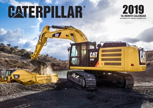 Caterpillar 2019 16 Month Calendar Includes September 2018 Through December 2019
