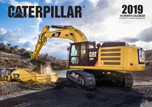Caterpillar 2019 16 Month Calendar Includes September 2018 Through December 2019