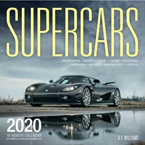 Supercars 2020 16-Month Calendar - September 2019 through December 2020