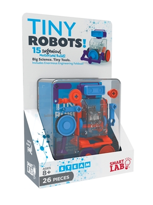 Tiny Robots! 15 Ingenious Motorized Builds! Big Science. Tiny Tools. Includes Enormous Engineering Foldout!