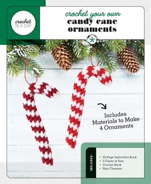 Crochet Your Own Candy Cane Ornaments