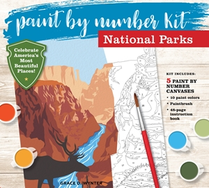 Paint by Number National Parks Kit