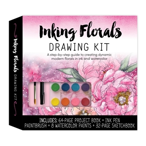 Inking Florals Drawing Kit