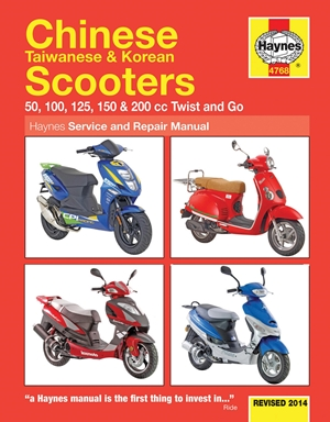 Chinese Taiwanese & Korean Scooters Revised 2014
