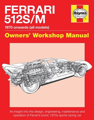 Ferrari 512 S/M 1970 onwards (all marks)