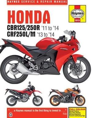 Honda CBR125R, CBR250R & CRF250L/M, '11-'14