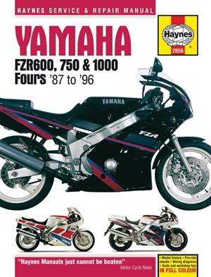 Yamaha FZR600, 750 & 1000 Fours '87 to '96