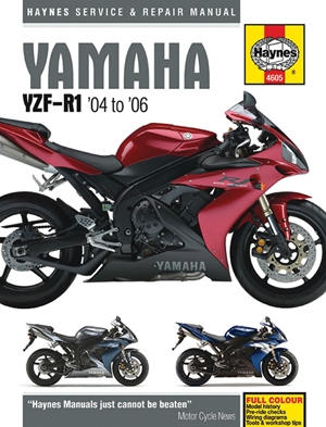 Yamaha YZF-R1 '04 to '06