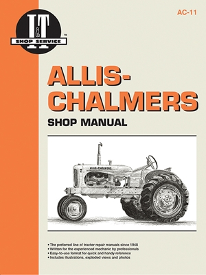 Allis Chalmers Shop Manual Models B C CA G RC WC WD +