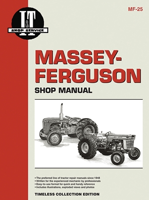 Massey Ferguson Shop Manual Models  Mdls MF25 MF130