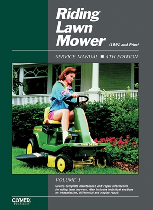 Riding Lawn Mower Service Manual Volume 1