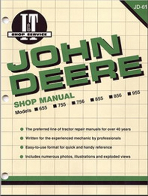John Deere Shop Manual 655 755 756 855 856&955