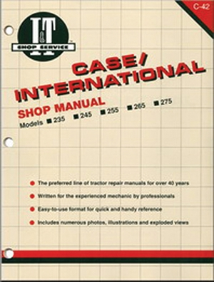 Case/International Shop Manual Models 235 235H 245 255 265