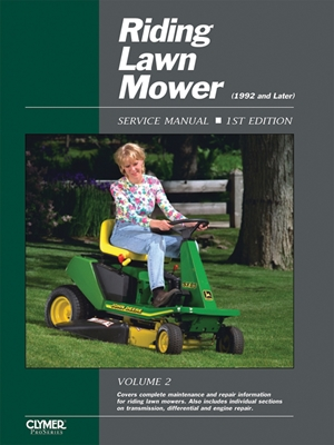 Riding Lawn Mower Service Manual Volume 2