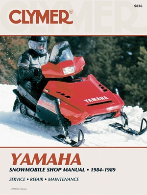 Clymer Yamaha Snowmobile Shop Manual 1984-1989
