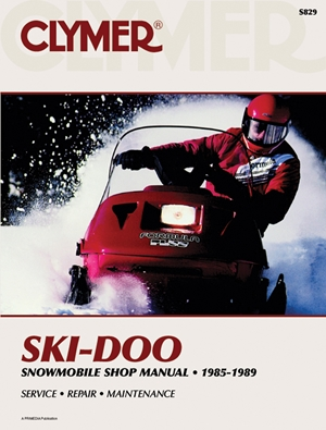 Clymer Ski-Doo Snowmobile Shop Manual, 1985-1989