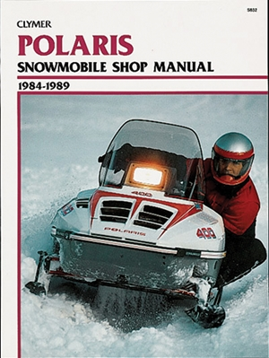 Clymer Polaris Snowmobile Shop Manual 1984-1989