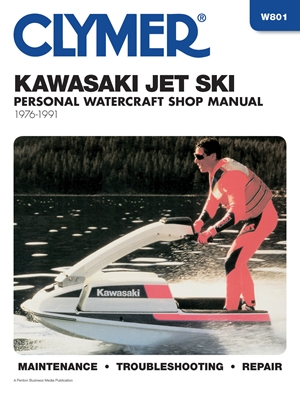 Clymer Kawasaki Jet Ski Personal Watercraft Shop Manual, 1976-1991
