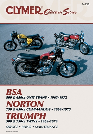 Clymer Vintage British Street Bikes: BSA, Norton, Triumph Repair Manual