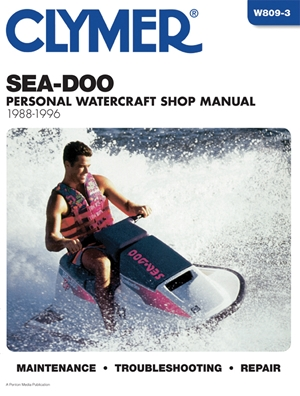 Sea-Doo Water Vehicles Shop Manual 1988-1996 (Clymer Personal Watercraft)