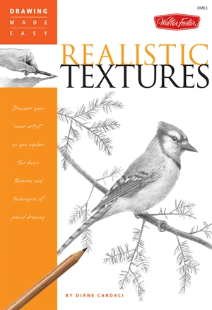 "Realistic Textures Discover your ""inner artist"" as you explore the basic theories and techniques of pencil drawing"