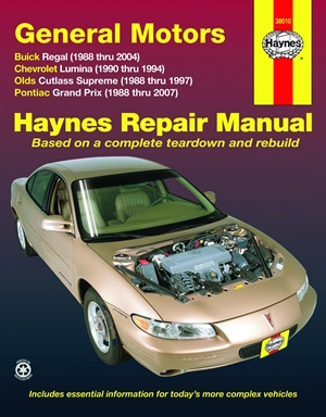 General Motors Buick Regal, Chevrolet Lumina,Olds Cutlass Supreme,Pontiac Grand Prix, 1988-2007
