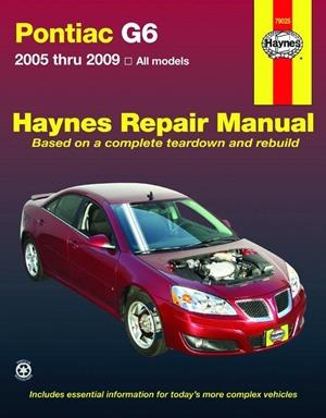 Pontiac G6 2005 thru 2009