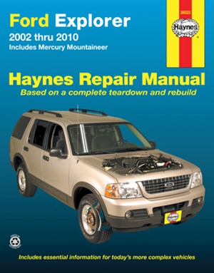 Ford Explorer & Mercury Mountaineer 2002 thru 2010 Haynes Repair Manual