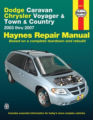 Dodge Caravan Chrysler Voyager & Town & Country 2003 thru 2007 Haynes Repair Manual