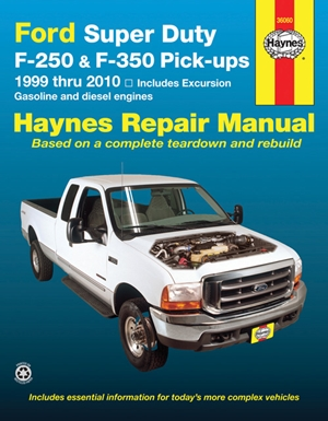 Ford Super Duty Pick-up & Excursion for Ford Super Duty F-250 & F-350 Pick-ups & Excursion 999-10) Haynes Repair Manual