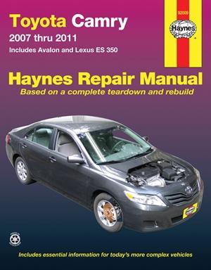 Toyota Camry 2007 thru 2011