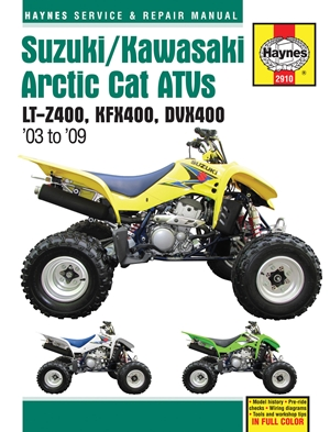 Suzuki/Kawasaki Artic Cat ATVs 2003 to 2009
